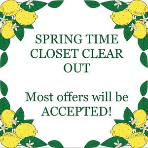 Spring time closet clear out